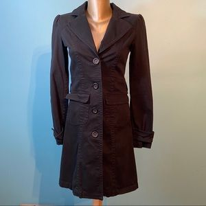 Single breasted cotton trench coat